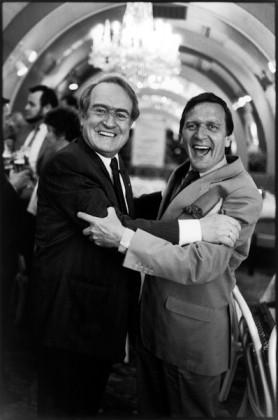 Gerhard Schröder und Johannes Rau, Hannover 1986