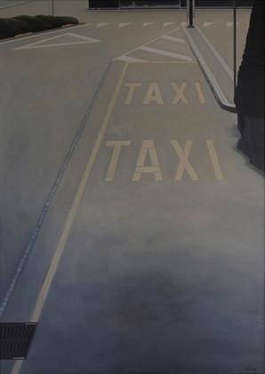Oertig-Willi_-Taxi-Ascona,-2009_oel-auf-Leinwand_65-x-90-cm