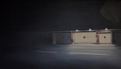 Oertig-Willi_Garagen-in-Antibes,-2011_oel-auf-Leinwand_120-x-70-cm