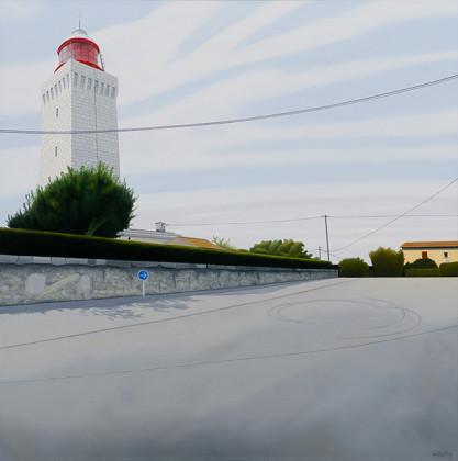 Oertig-Willi_Phare-de-la-Garoupe,-2012_oel-auf-Leinwand_90-x-90-cm